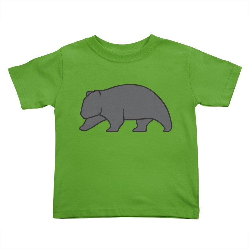 Wary Wombat Kids Toddler T-Shirt by BMaw's Artist Shop