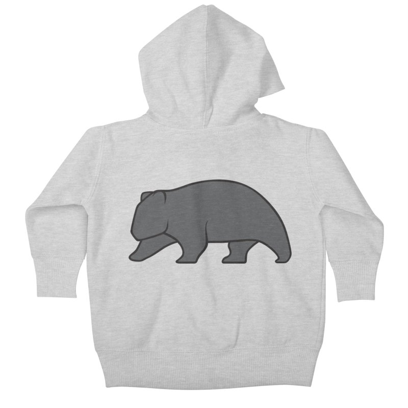 Wary Wombat Kids Baby Zip-Up Hoody by BMaw's Artist Shop