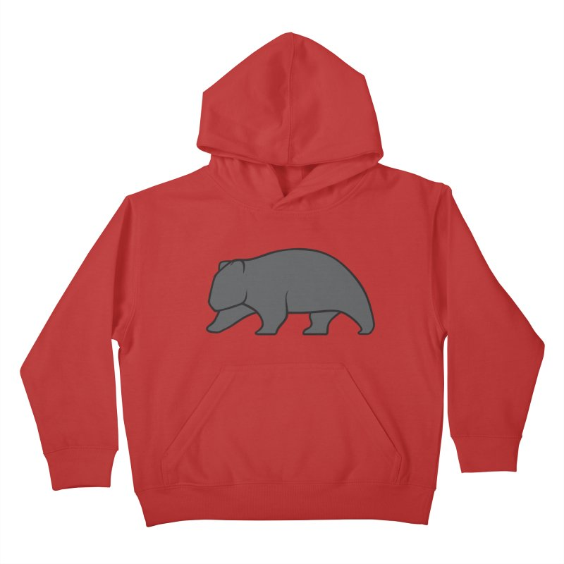Wary Wombat Kids Pullover Hoody by BMaw's Artist Shop