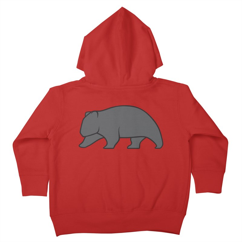 Wary Wombat Kids Toddler Zip-Up Hoody by BMaw's Artist Shop