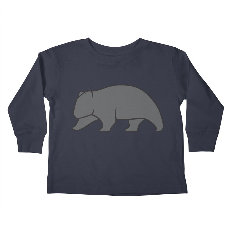 Wary Wombat Kids Toddler Longsleeve T-Shirt by BMaw's Artist Shop