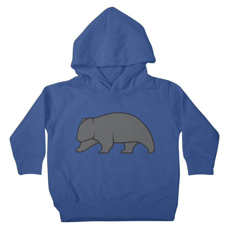 Wary Wombat Kids Toddler Pullover Hoody by BMaw's Artist Shop