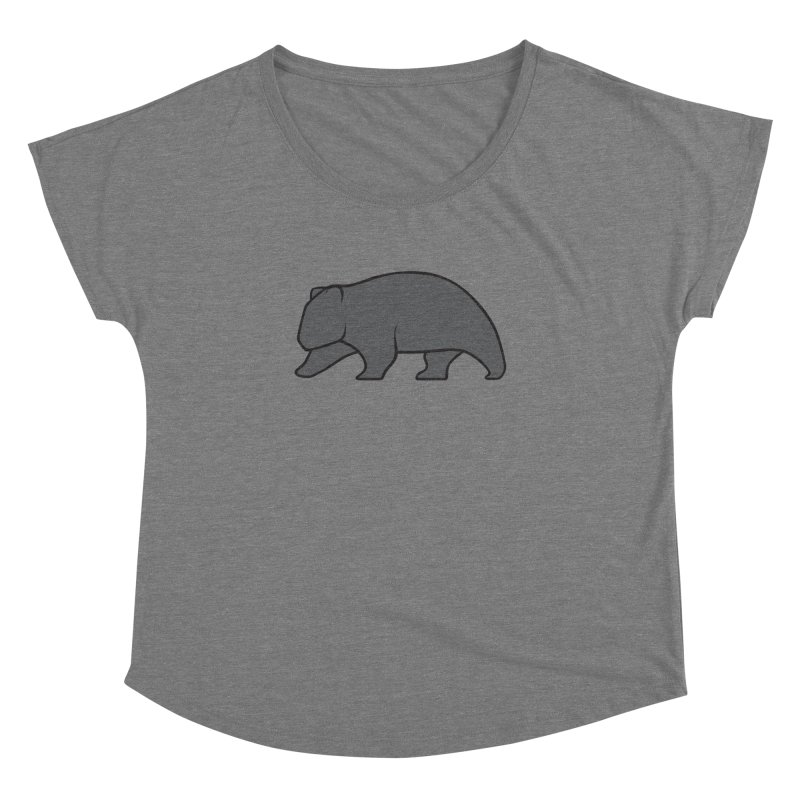 Wary Wombat Women's Dolman Scoop Neck by BMaw's Artist Shop