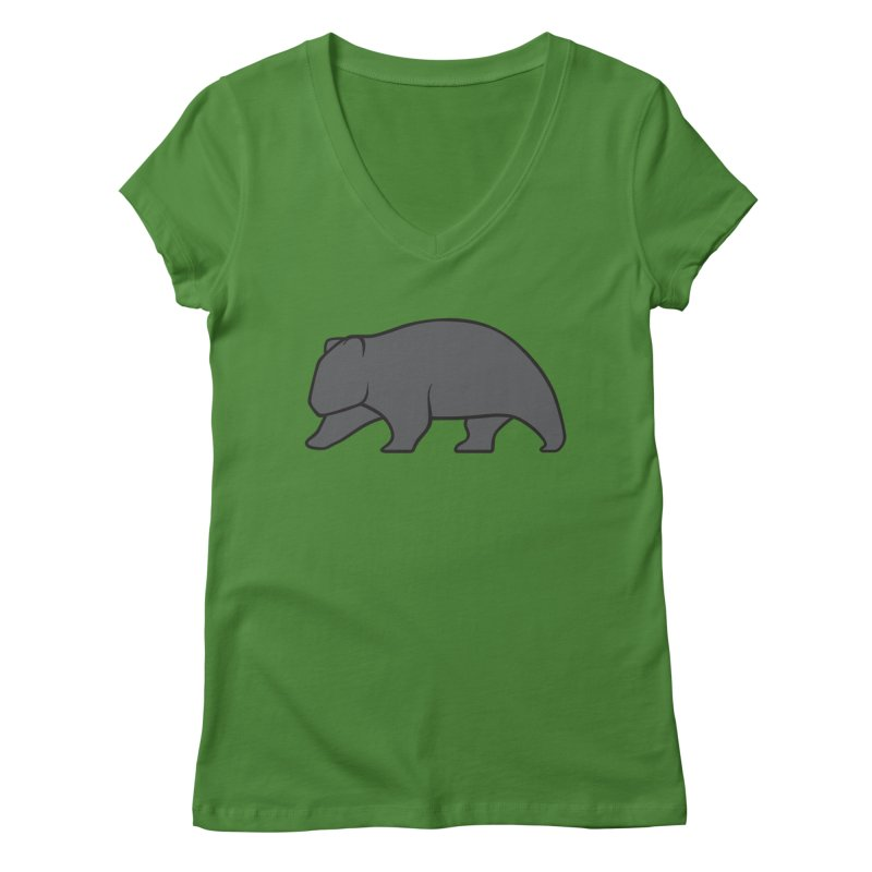 Wary Wombat Women's V-Neck by BMaw's Artist Shop