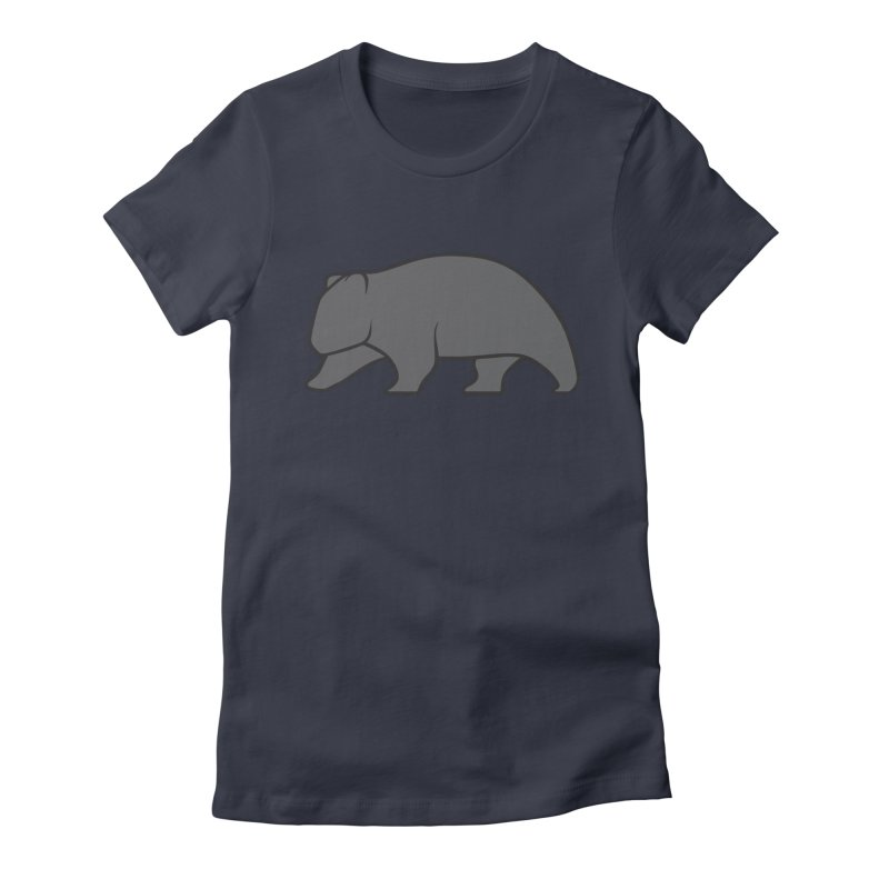 Wary Wombat Women's Fitted T-Shirt by BMaw's Artist Shop
