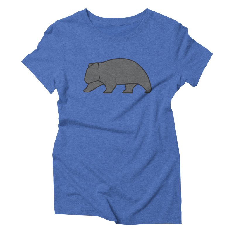 Wary Wombat Women's Triblend T-Shirt by BMaw's Artist Shop