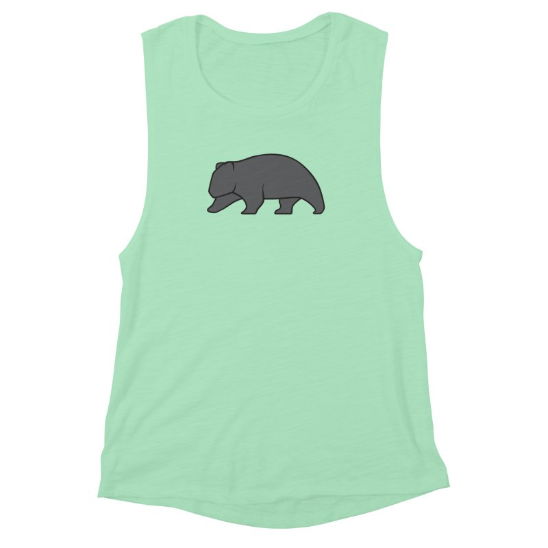 Wary Wombat Women's Muscle Tank by BMaw's Artist Shop