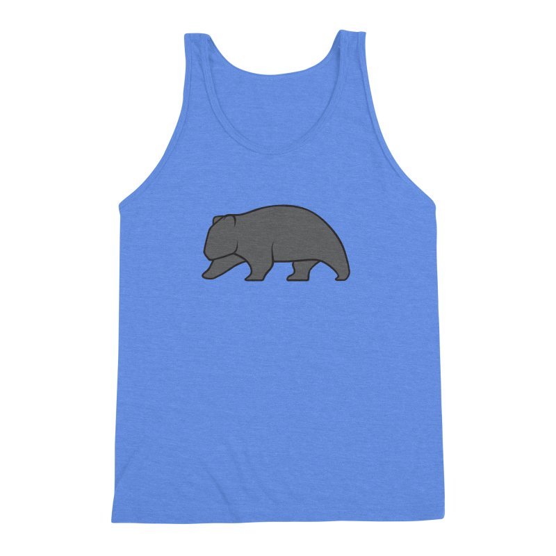 Wary Wombat Men's Triblend Tank by BMaw's Artist Shop