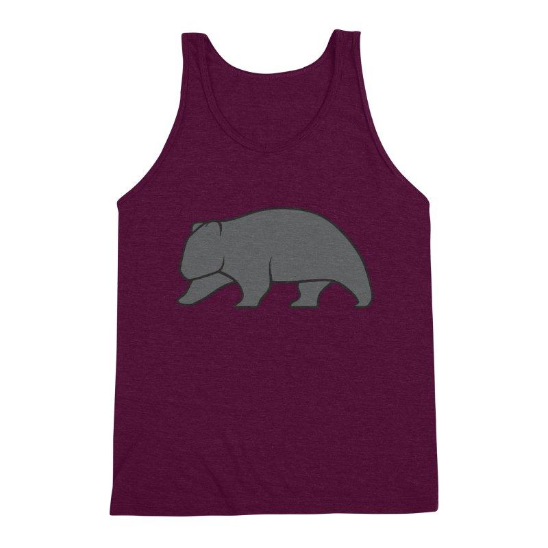 Wary Wombat Men's Triblend Tank by BMaw's Artist Shop