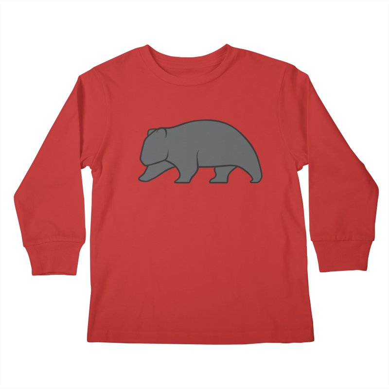 Wary Wombat Kids Longsleeve T-Shirt by BMaw's Artist Shop