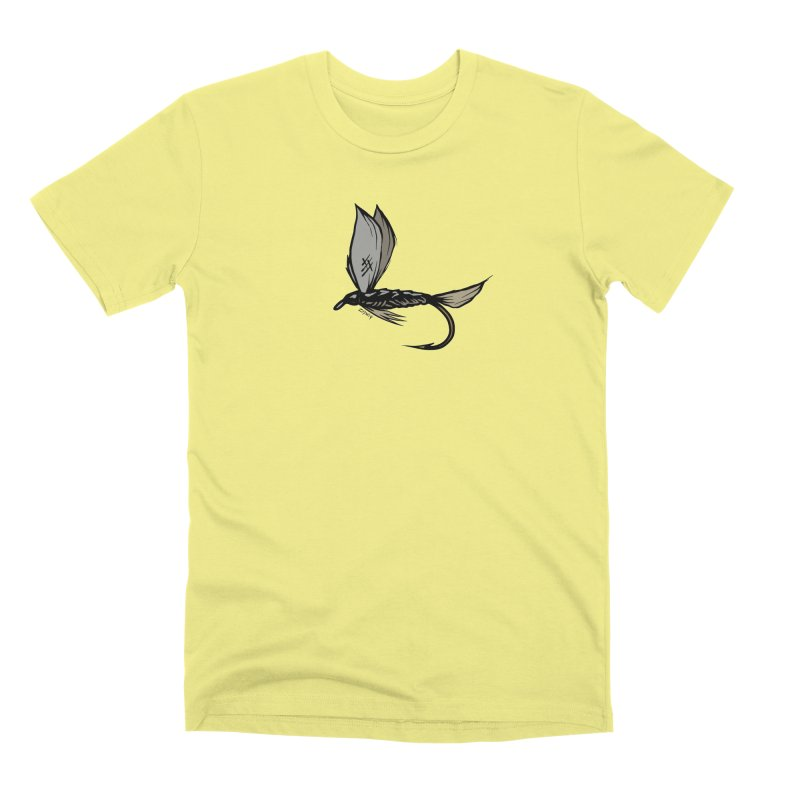 Manic Monday Fly Sketch Men's Premium T-Shirt by Boneyard Studio - Boneyard Fly Gear