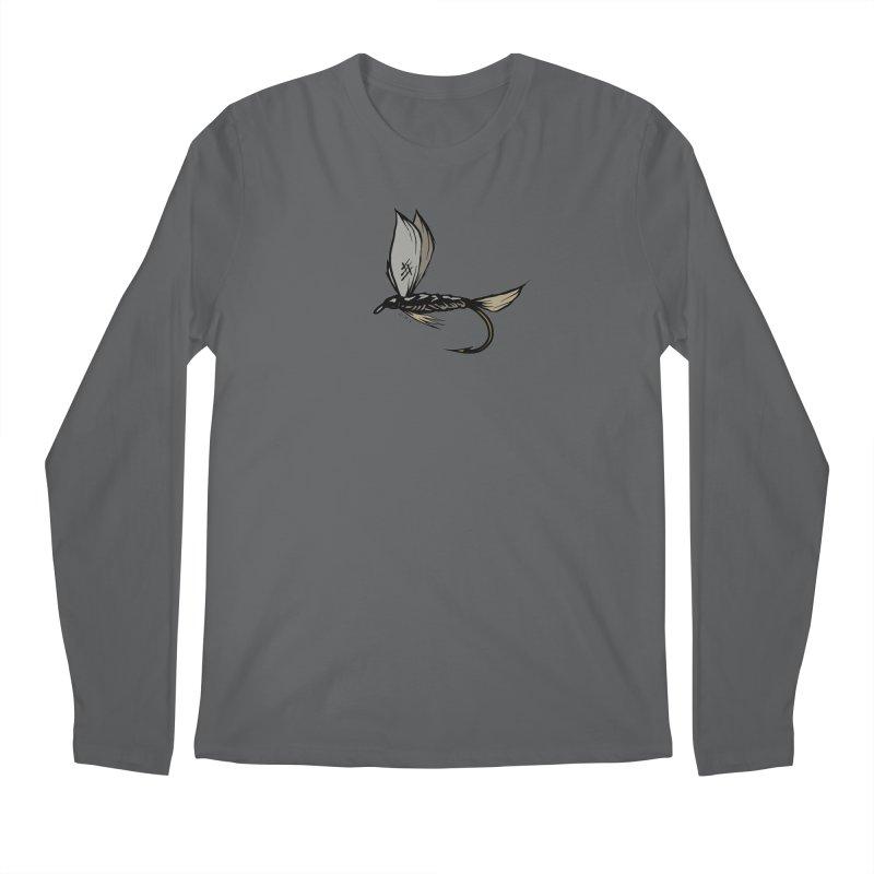 Manic Monday Fly Sketch Men's Regular Longsleeve T-Shirt by Boneyard Studio - Boneyard Fly Gear