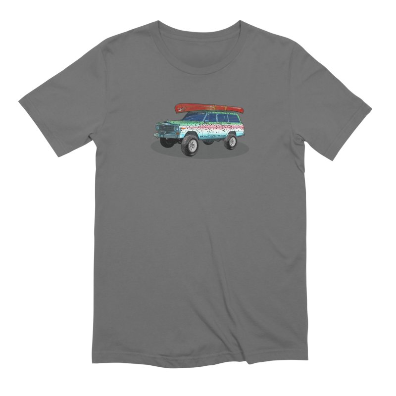 Trout Bum Wagoneer Men's Extra Soft T-Shirt by Boneyard Studio - Boneyard Fly Gear