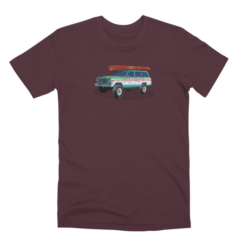 Trout Bum Wagoneer Men's Premium T-Shirt by Boneyard Studio - Boneyard Fly Gear