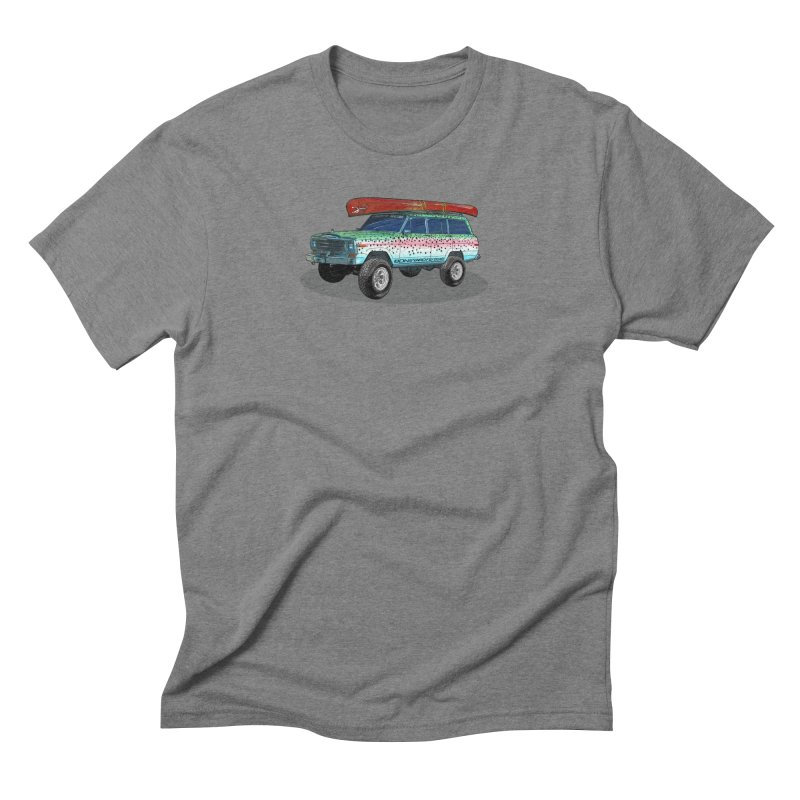 Trout Bum Wagoneer in Men's Triblend T-Shirt Grey Triblend by Boneyard Studio - Boneyard Fly Gear