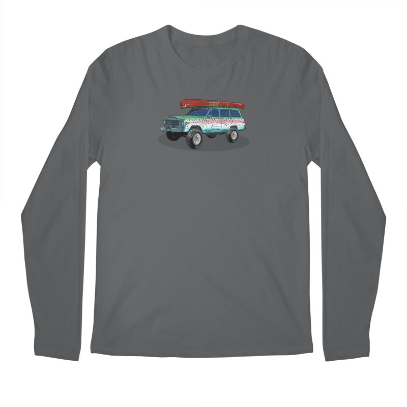 Trout Bum Wagoneer Men's Longsleeve T-Shirt by Boneyard Studio - Boneyard Fly Gear