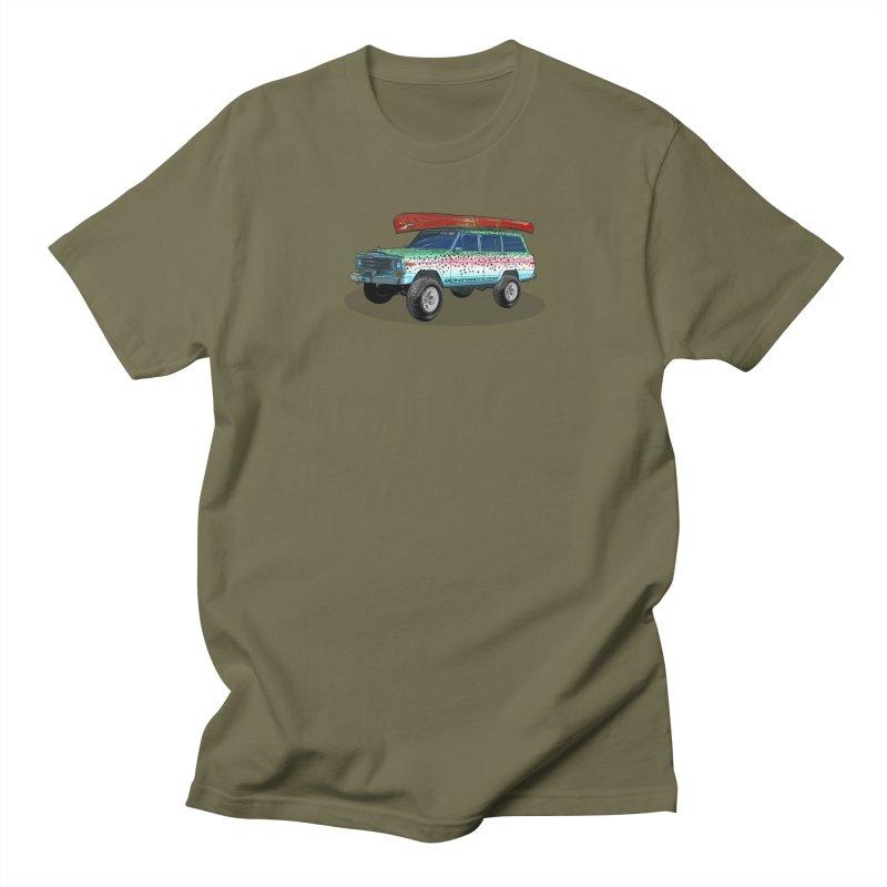 Trout Bum Wagoneer Men's Regular T-Shirt by Boneyard Studio - Boneyard Fly Gear