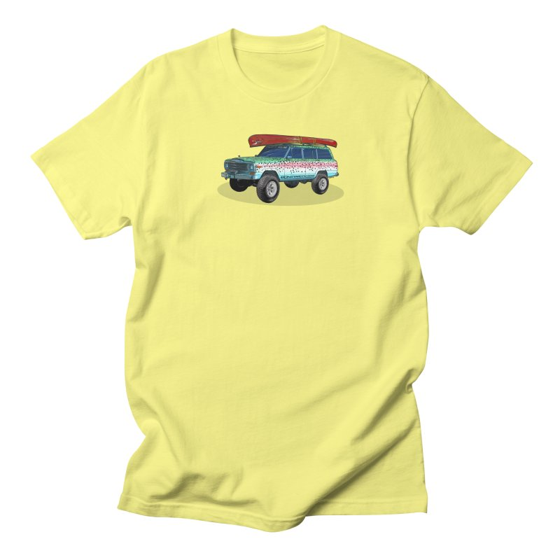 Trout Bum Wagoneer Men's T-Shirt by Boneyard Studio - Boneyard Fly Gear