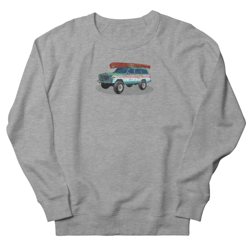 Trout Bum Wagoneer Men's French Terry Sweatshirt by Boneyard Studio - Boneyard Fly Gear