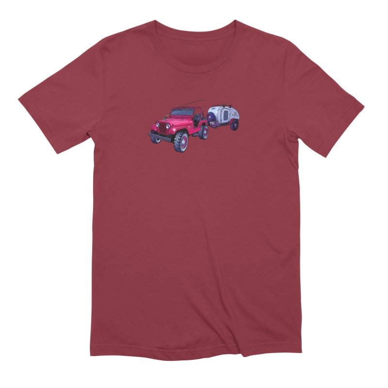 Vintage Overland Adventure Rig Men's Extra Soft T-Shirt by Boneyard Studio - Boneyard Fly Gear
