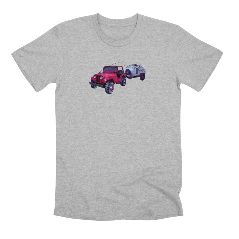 Vintage Overland Adventure Rig Men's Premium T-Shirt by Boneyard Studio - Boneyard Fly Gear