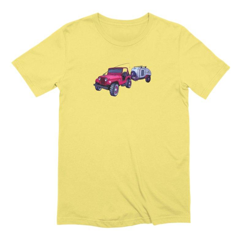 Vintage Overland Adventure Rig Men's Extra Soft T-Shirt by Boneyard Studio - Boneyard Fly Gear