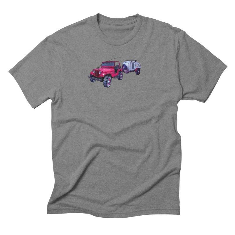 Vintage Overland Adventure Rig in Men's Triblend T-Shirt Grey Triblend by Boneyard Studio - Boneyard Fly Gear