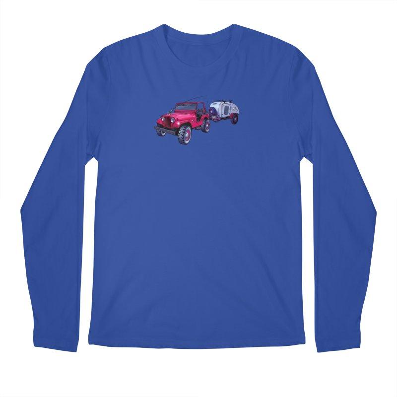Vintage Overland Adventure Rig Men's Regular Longsleeve T-Shirt by Boneyard Studio - Boneyard Fly Gear