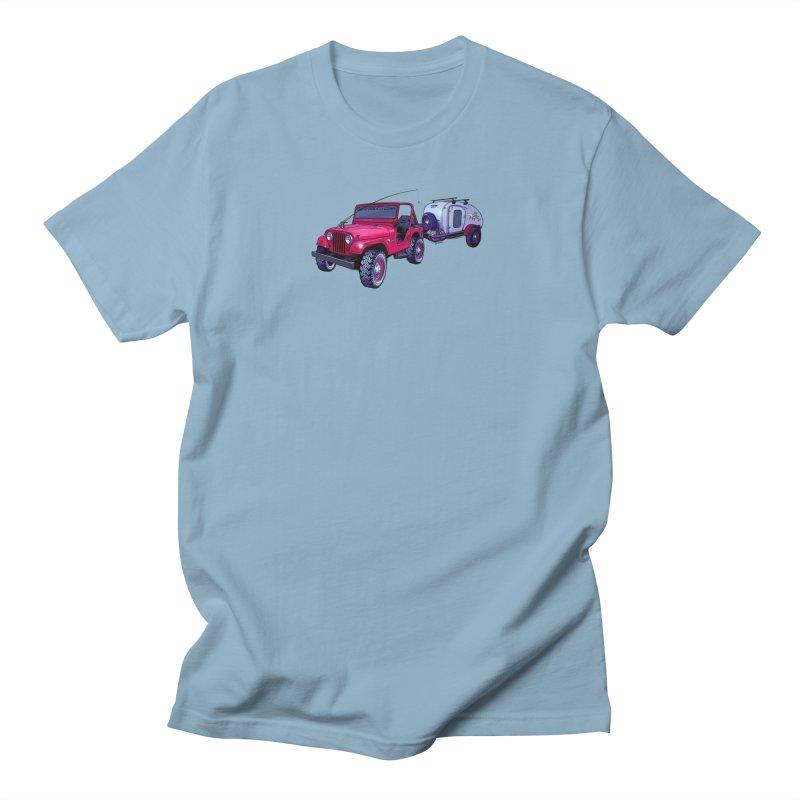 Vintage Overland Adventure Rig Men's Regular T-Shirt by Boneyard Studio - Boneyard Fly Gear