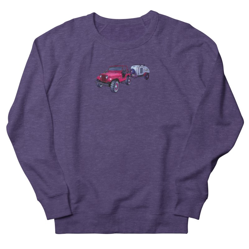 Vintage Overland Adventure Rig Men's French Terry Sweatshirt by Boneyard Studio - Boneyard Fly Gear