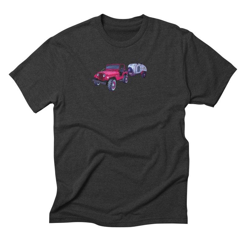 Vintage Overland Adventure Rig Men's Triblend T-Shirt by Boneyard Studio - Boneyard Fly Gear