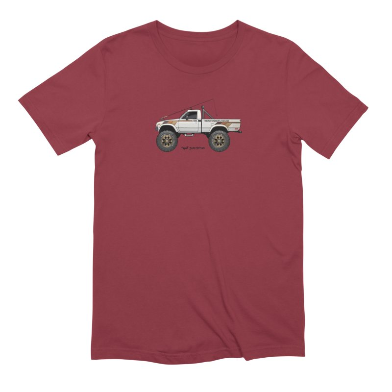 80's Toyota SR5 Adventure Rig Men's Extra Soft T-Shirt by Boneyard Studio - Boneyard Fly Gear