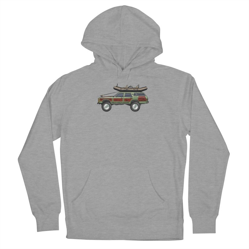 The Wagon Queen Family Truckster Adventure Rig Men's French Terry Pullover Hoody by Boneyard Studio - Boneyard Fly Gear
