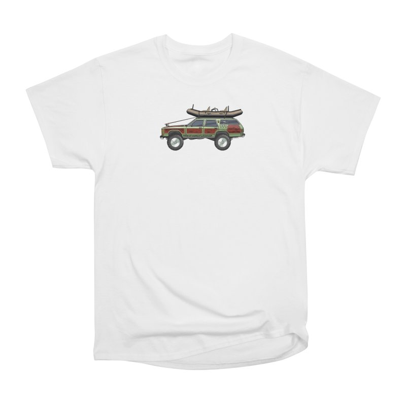 The Wagon Queen Family Truckster Adventure Rig Men's Heavyweight T-Shirt by Boneyard Studio - Boneyard Fly Gear