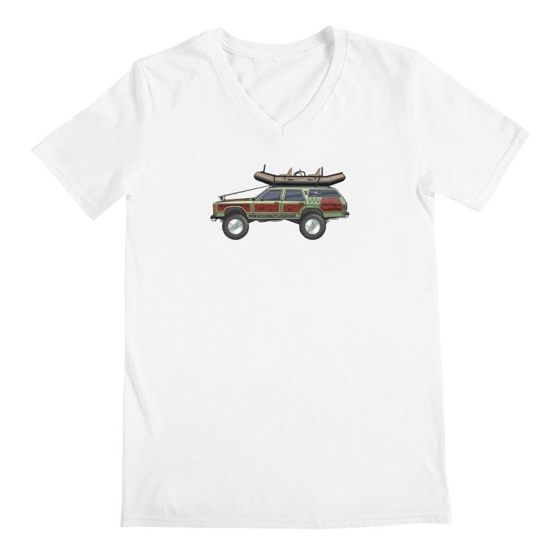 The Wagon Queen Family Truckster Adventure Rig Men's V-Neck by Boneyard Studio - Boneyard Fly Gear