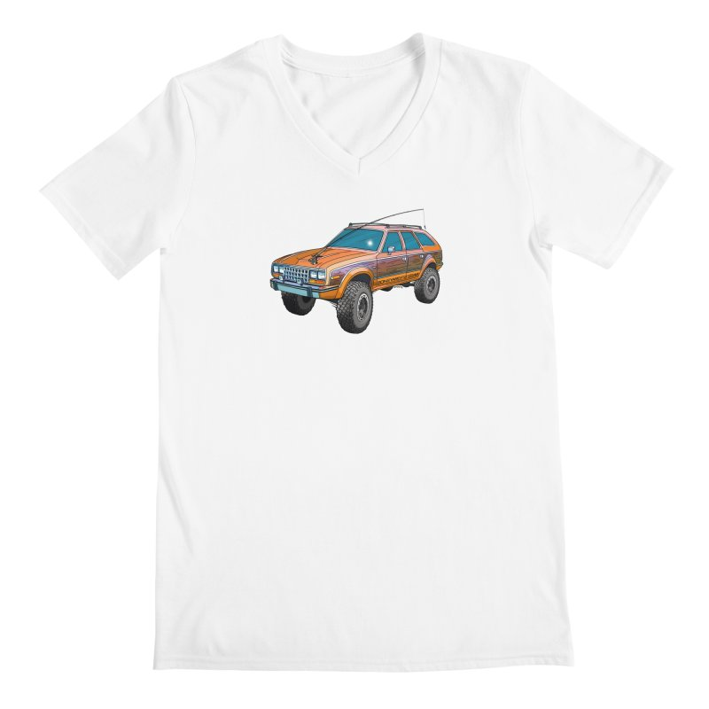 AMC Eagle Adventure Rig Men's V-Neck by Boneyard Studio - Boneyard Fly Gear