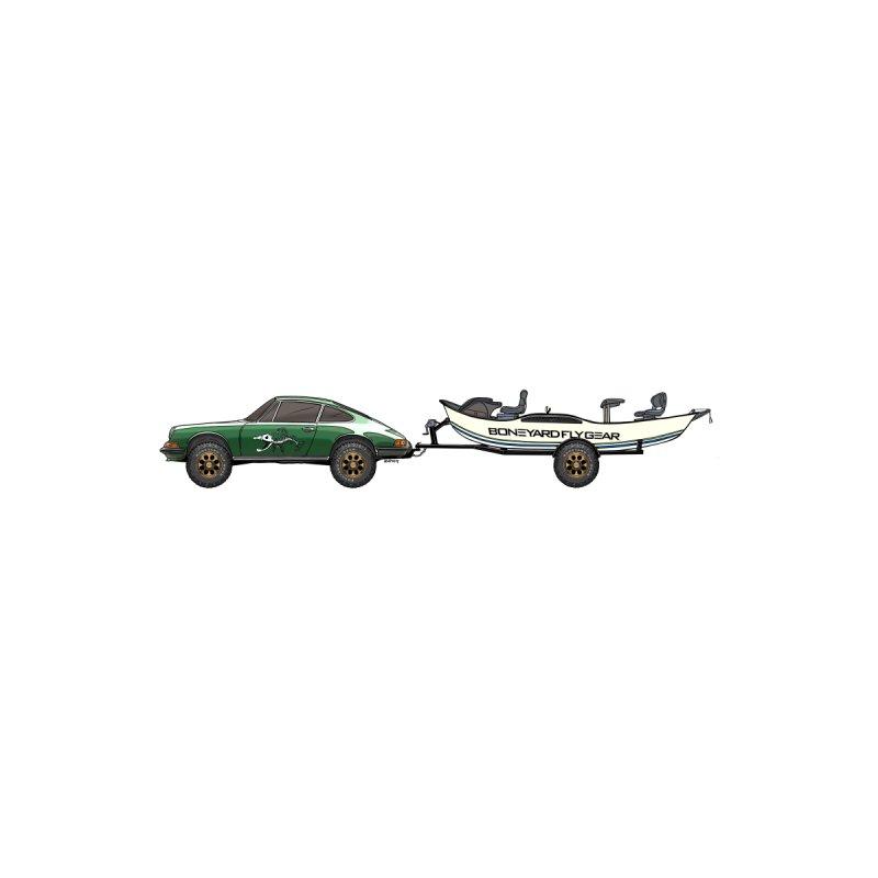 Vintage Porsche Adventure Rig Men's V-Neck by Boneyard Studio - Boneyard Fly Gear