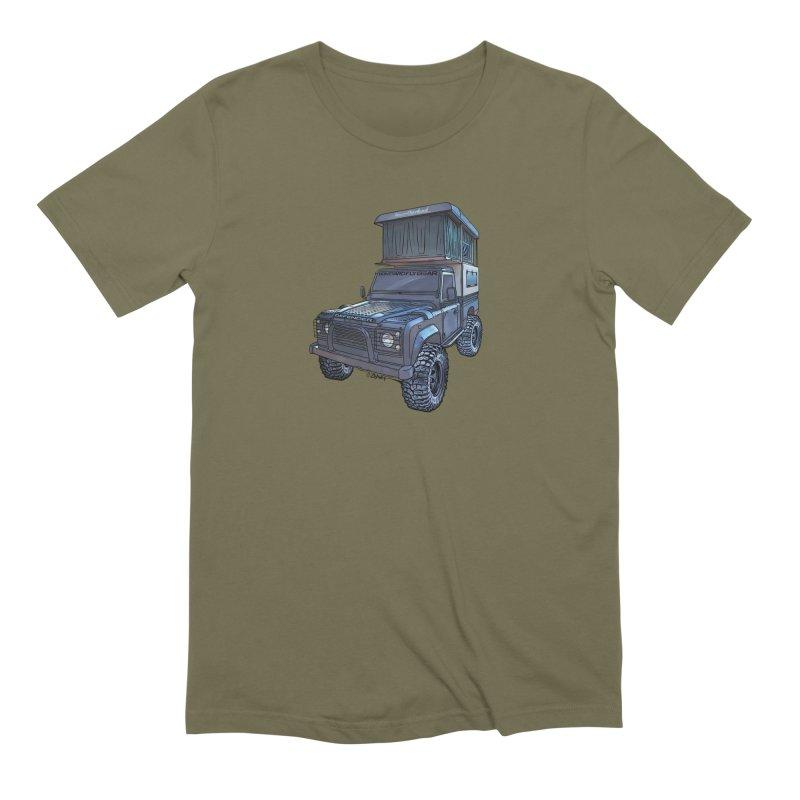 Hower Overland Defender in Men's Extra Soft T-Shirt Olive by Boneyard Studio - Boneyard Fly Gear