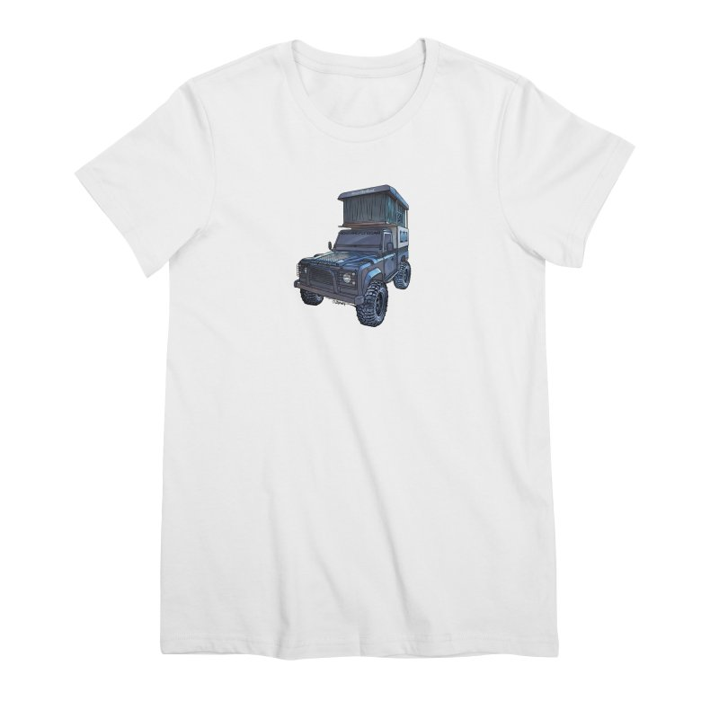 Hower Overland Defender Women's Premium T-Shirt by Boneyard Studio - Boneyard Fly Gear