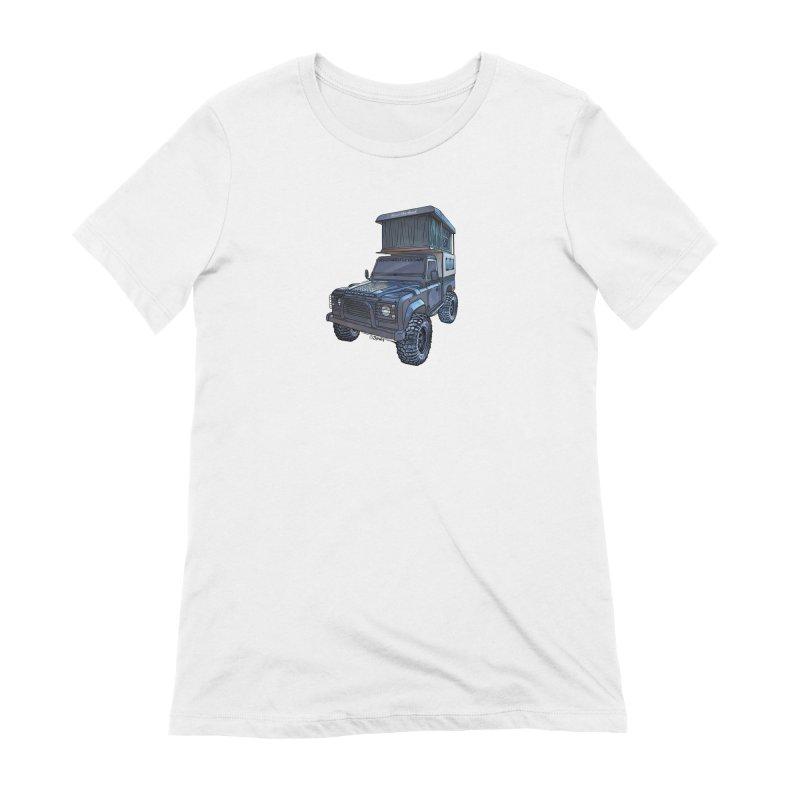 Hower Overland Defender Women's Extra Soft T-Shirt by Boneyard Studio - Boneyard Fly Gear