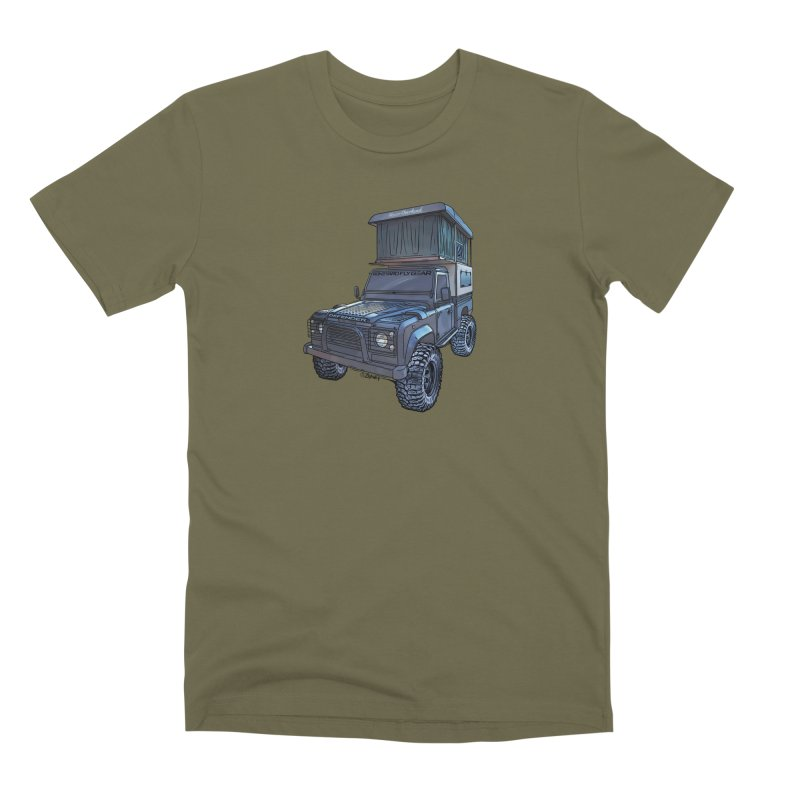 Hower Overland Defender Men's Premium T-Shirt by Boneyard Studio - Boneyard Fly Gear