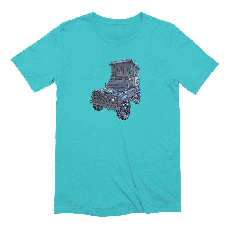 Hower Overland Defender Men's Extra Soft T-Shirt by Boneyard Studio - Boneyard Fly Gear