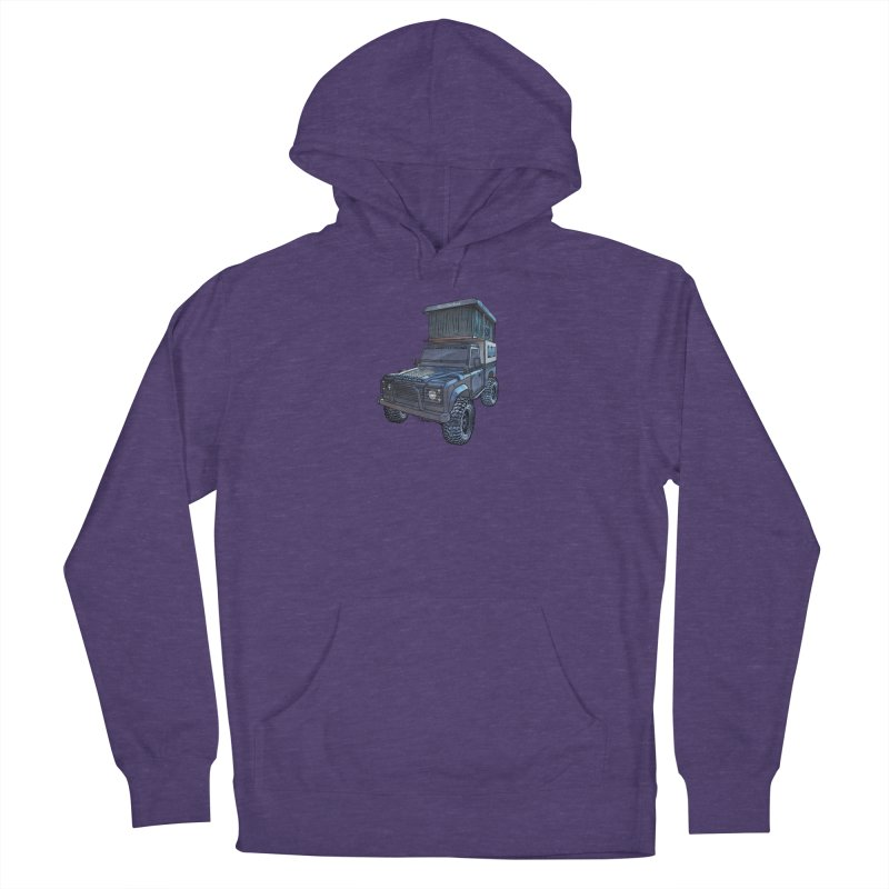 Hower Overland Defender Women's French Terry Pullover Hoody by Boneyard Studio - Boneyard Fly Gear