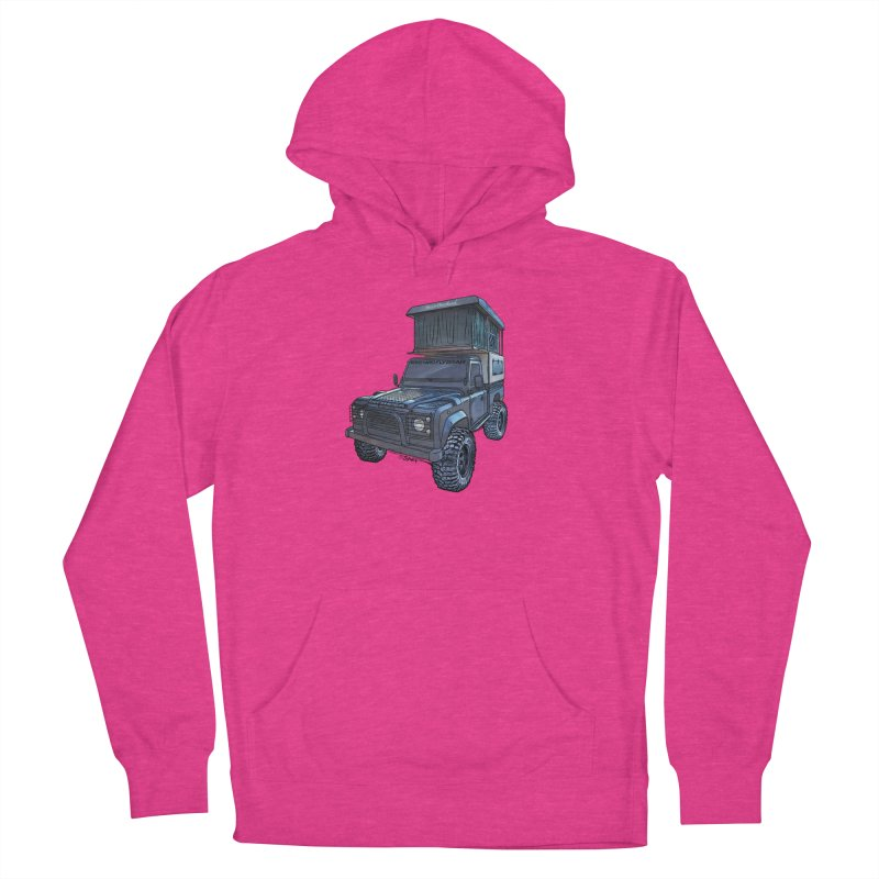 Hower Overland Defender Men's French Terry Pullover Hoody by Boneyard Studio - Boneyard Fly Gear