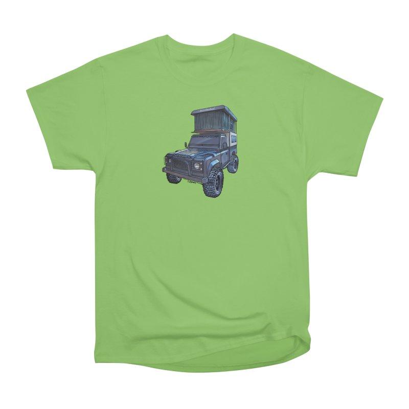 Hower Overland Defender Women's Heavyweight Unisex T-Shirt by Boneyard Studio - Boneyard Fly Gear