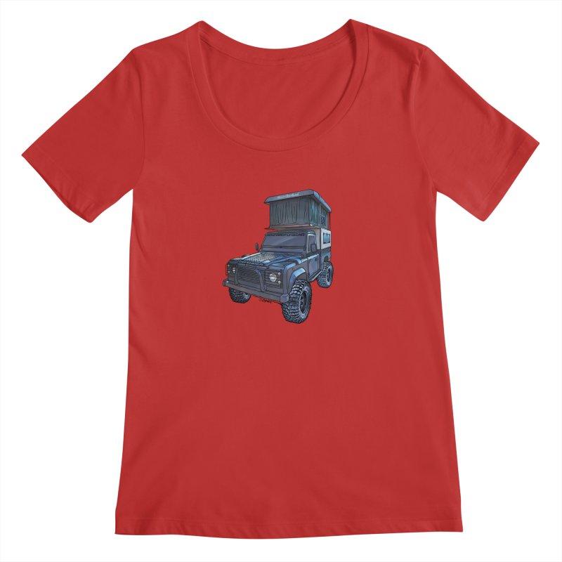 Hower Overland Defender Women's Regular Scoop Neck by Boneyard Studio - Boneyard Fly Gear