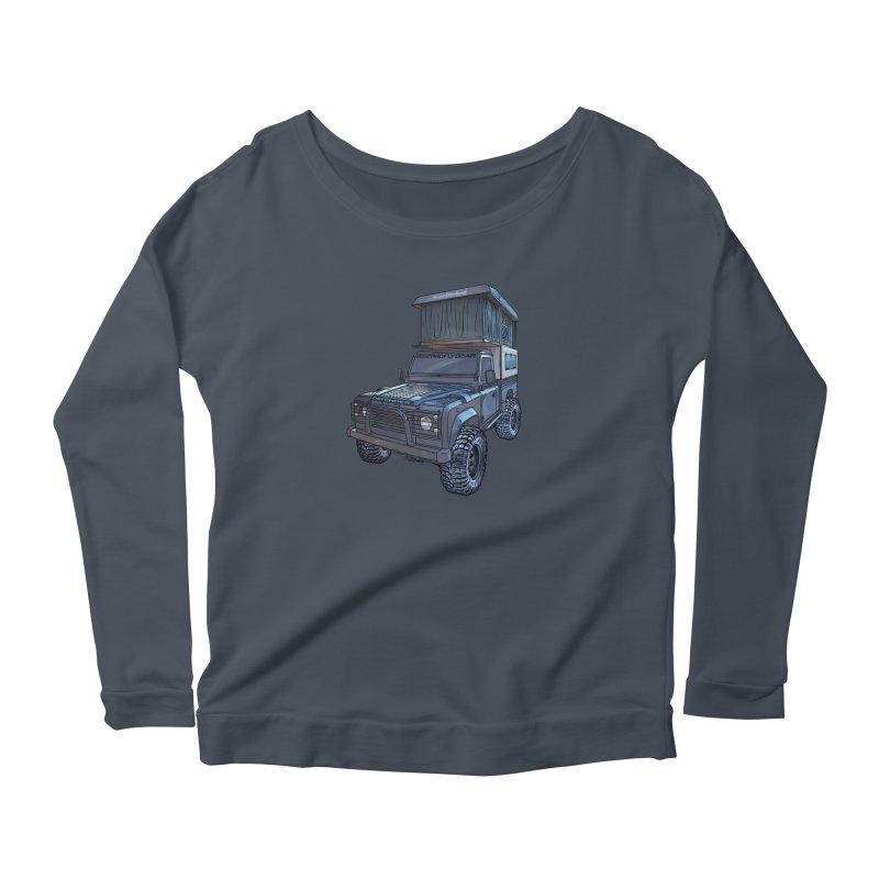 Hower Overland Defender Women's Scoop Neck Longsleeve T-Shirt by Boneyard Studio - Boneyard Fly Gear