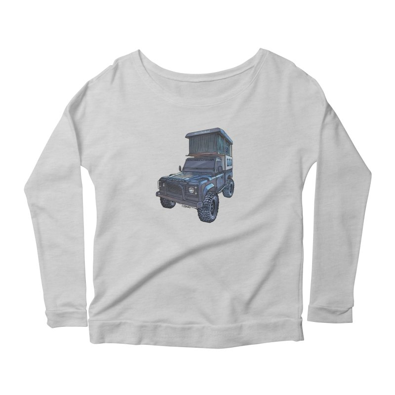 Hower Overland Defender Women's Scoop Neck Longsleeve T-Shirt by Boneyard Studio - Boneyard Fly Gear