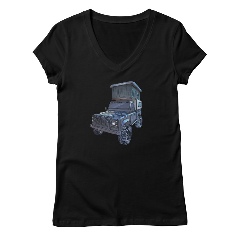 Hower Overland Defender Women's Regular V-Neck by Boneyard Studio - Boneyard Fly Gear