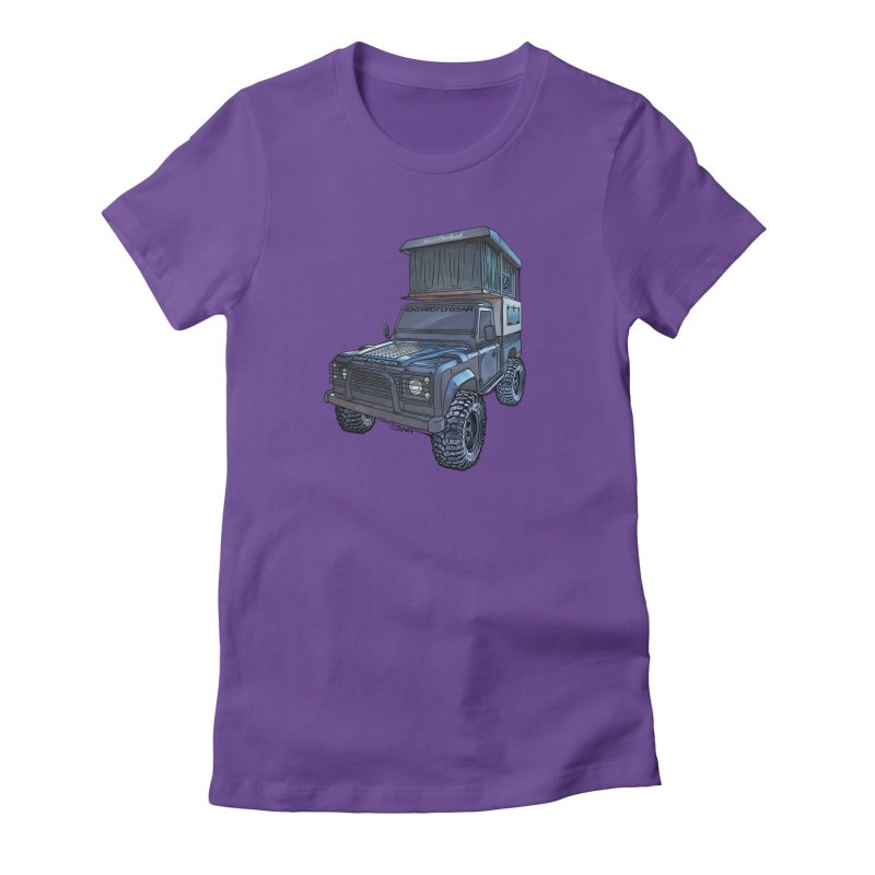 Hower Overland Defender Women's Fitted T-Shirt by Boneyard Studio - Boneyard Fly Gear